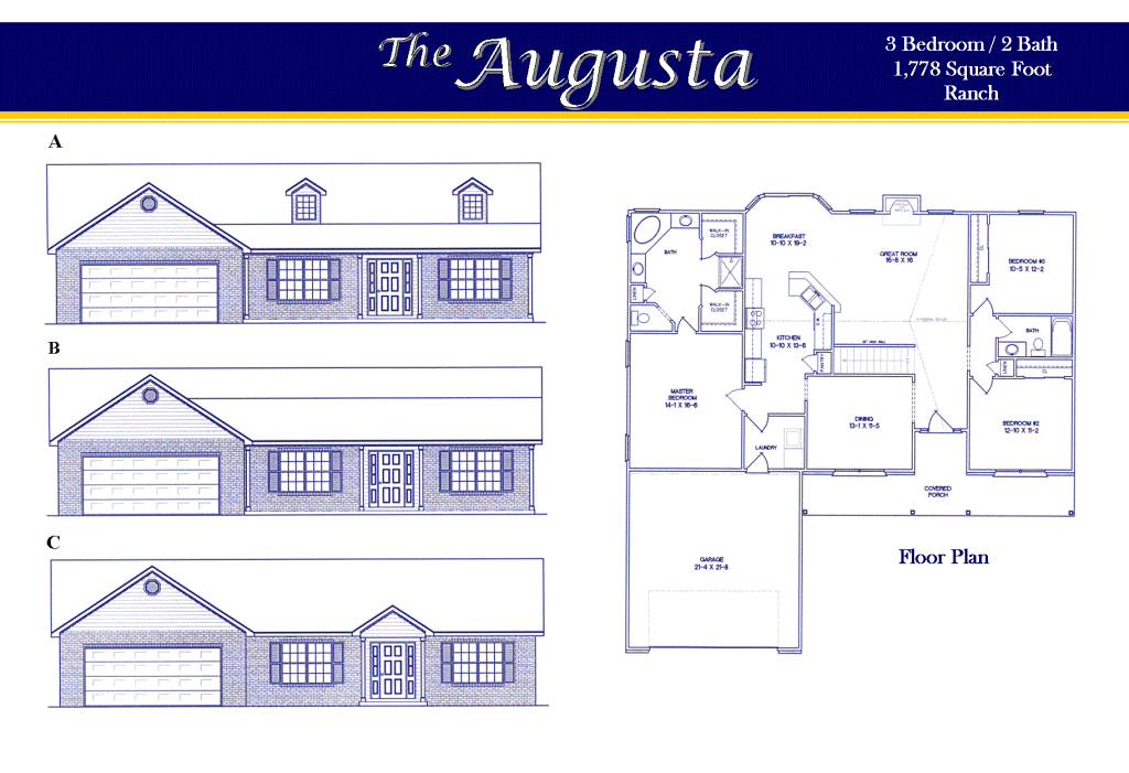 Awesome Augusta Floor Plan Contemporary Flooring amp Area